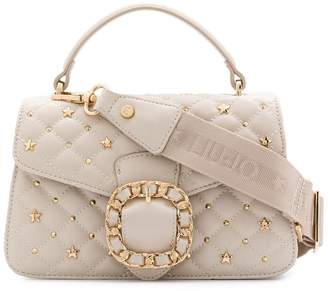Liu Jo studded quilted top handle bag