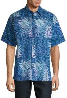 Saks Fifth Avenue BLACK Graphic Button-Down Shirt