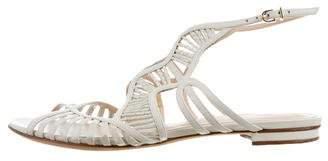 Alexandre Birman Snakeskin Cage Sandals