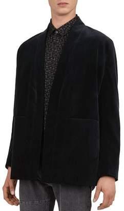 The Kooples Printed Velvet Kimono-Style Jacket