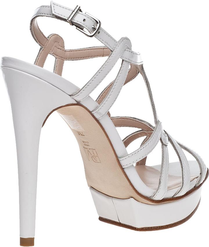 Pelle Moda Flirty Evening Sandal Silver Leather