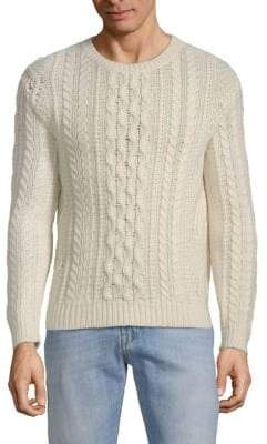 Valentino Embroidered Cable-Knit Sweater