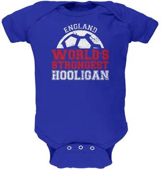 Old Glory World Cup World's Strongest Hooligan England Soft Baby One Piece 9-12 M