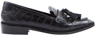 The Kooples Black Leather Flats