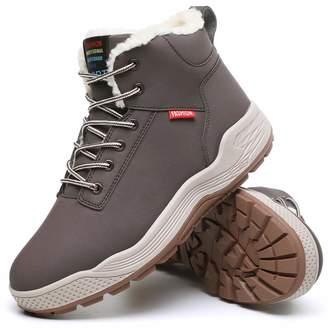 bb15e4bf99 Aliwendy Mens Winter Snow Boots Fur Lined Waterproof Warm Sneaker Non-Slip  High Top Outdoor