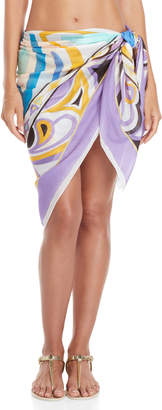 Emilio Pucci Purple Printed Wrap Cover-Up Skirt