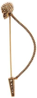 Alexander McQueen Swarovski-embellished skull pin brooch