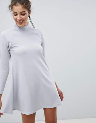 AX Paris High Neck Long Sleeve Swing Dress