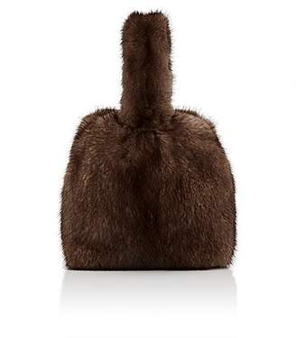 Barneys New York Women's Mink Fur Wristlet Bucket Bag - Lt. brown