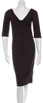 Diane von Furstenberg Cowl-Neck Cocktail Dress