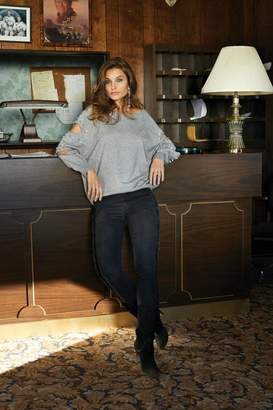 Elan International Zara Cutout-Sleeve Sweater