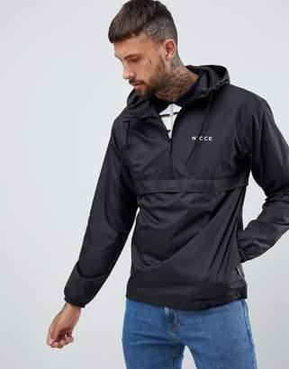Nicce London windbreaker logo jacket in black