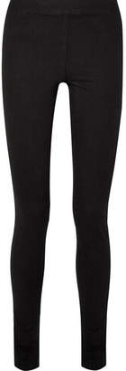 The Row Stratton Stretch-cotton Leggings - Black