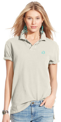 Personalization Boyfriend Cotton Mesh Polo $98.50 thestylecure.com
