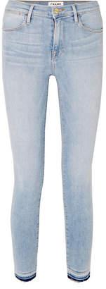 Frame Le High Skinny Cropped Jeans - Light denim