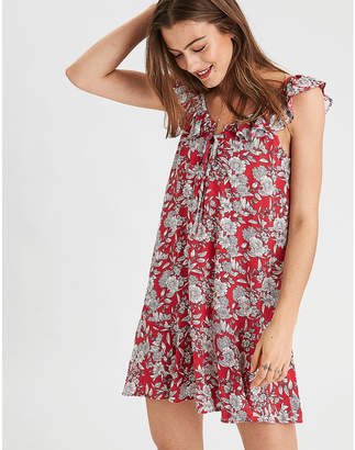 American Eagle AE Ruffle Neck Shift Dress