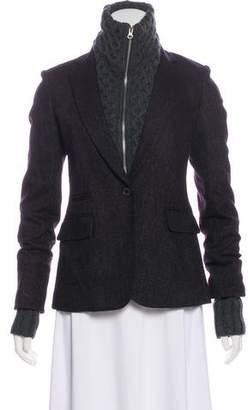 Veronica Beard Knit Wool-blend Blazer