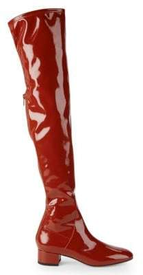 Valentino Patent Leather Over-The-Knee Boots