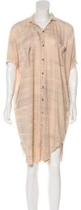 Raquel Allegra Knee-Length Button-Up Dress