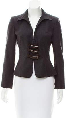 Valentino Buckle-Accented Structured Jacket