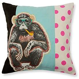 Madura Wise Monkey Decorative Pillow Cover, 16 x 16