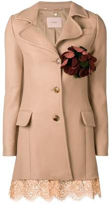 Twin-Set lace trim coat