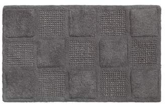 Carnation Home Fashions Waffle Weave 100% Cotton Bath Mat, Pewter