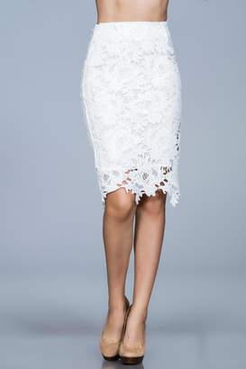 Ark & Co White Lace Skirt