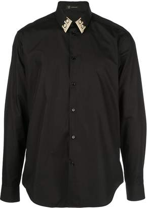 Versace patterned collar button-down shirt