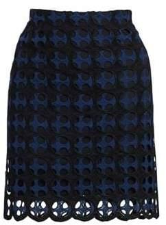 Akris Punto Eyelet Lace Skirt