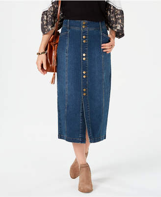 69f865fd7 Style & Co Petite Denim A-Line Skirt