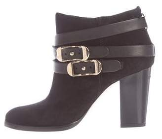 Jimmy Choo Suede Buckle Ankle Boots