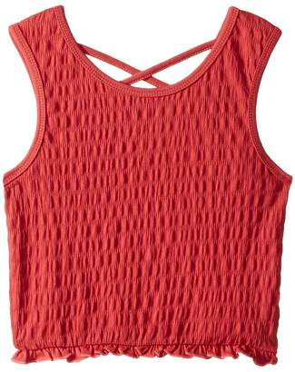 Maddie by Maddie Ziegler Smocked Tank Top with Crisscross Back Girl's Sleeveless