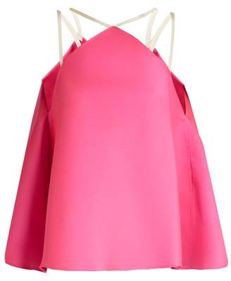 Maison Rabih Kayrouz Fluted Duchess Satin Top - Womens - Pink