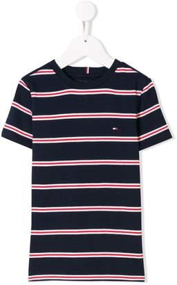 Tommy Hilfiger Junior contrast stripe T-shirt