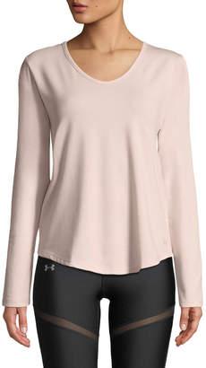 Under Armour Pindot Open-Back Long-Sleeve Activewear Top