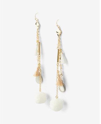 Express Linear Tassel Drop Earrings $22.90 thestylecure.com