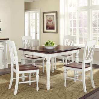 Laurèl Foundry Modern Farmhouse Giulia 5 Piece Solid Wood Dining Set Foundry Modern Farmhouse