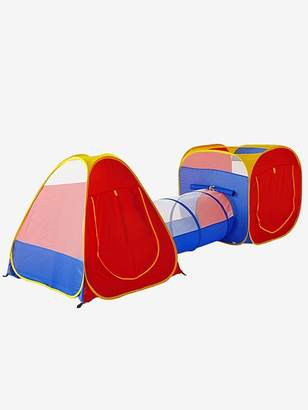 Tent for Games with Balls and Tunnel - red medium solid with desig