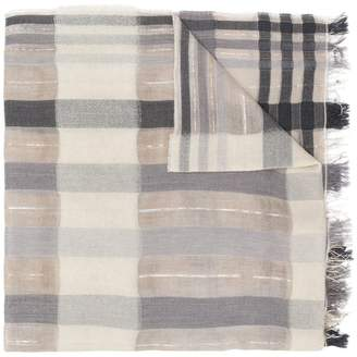 Fabiana Filippi frayed hem checked scarf