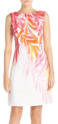 Women's Ellen Tracy Print Shantung Sheath Dress $128 thestylecure.com