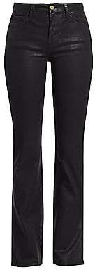 Frame Women's Le Mini Coated Boot-Cut Jeans