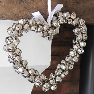 Marquis & Dawe Large Silver Jingle Bells Heart