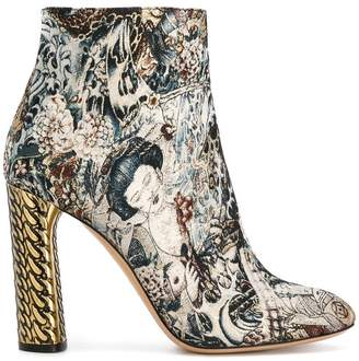 Casadei jacquard ankle boots