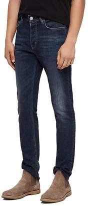 AllSaints Rex Straight Skinny Fit Jeans in Indigo
