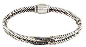 David Yurman Black Diamond Petite Pavé Mini Loop Bracelet
