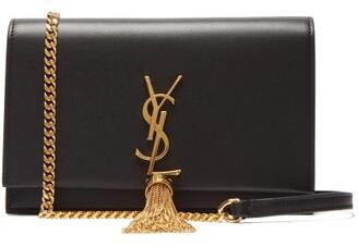 Saint Laurent Kate Tasselled Leather Cross Body Bag - Womens - Black