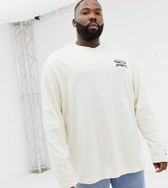 Puma PLUS organic cotton long sleeve top in white Exclusive at ASOS