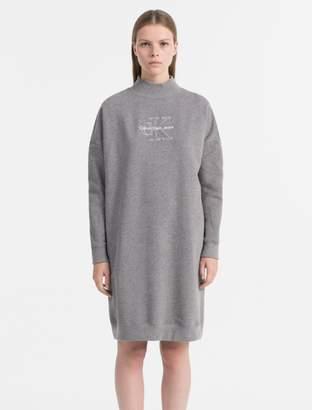 Calvin Klein relaxed fit logo sweater dress