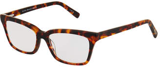 Eyebobs Meeooww Rectangle Acetate Havana Optical Glasses